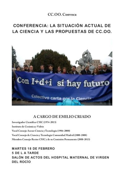 cartel conferencia Emilio Criado
