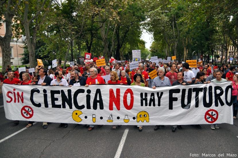 Fotografía de la manifestación por la ciencia en Madrid, 27S 2013
